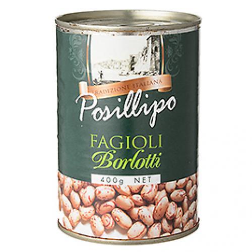 ポジリポ ボルロッティ(うずら豆)水煮 / 400g TOMIZ(富澤商店) イタリアンと洋風食材 洋食材