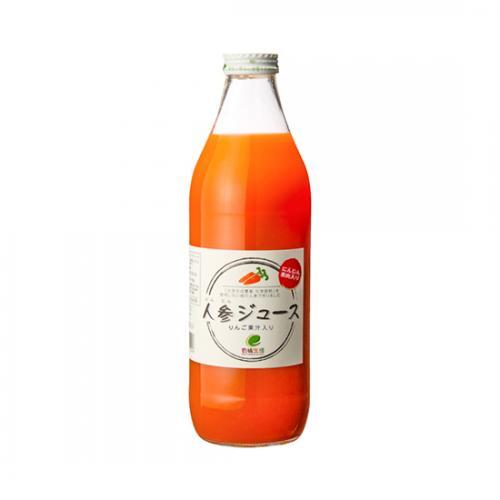 人参ジュース(りんご果汁入り) / 1000ml TOMIZ/cuoca(富澤商店) 珈琲・お茶 その他珈琲・お茶