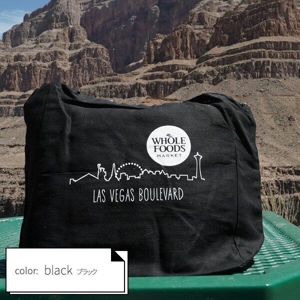 【ホールフーズマーケット】2waybag totebag Black:(WHOLE FOODS MARKET ECOBAG:【LAS VEGAS】【ラスヴェガス】【WHOLE FOODS MARKET】