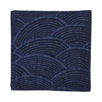 藍木綿 コースター日本製 インディゴ(青海波文)