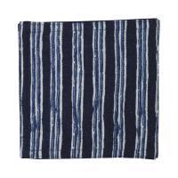 藍木綿 コースター日本製 インディゴ(よろけ縦縞)