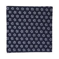 <送料無料 ゆうパケット>藍木綿 コースター日本製 インディゴ(小桜紋)