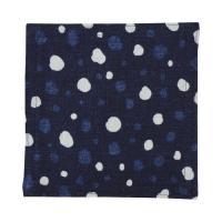 藍木綿 コースター日本製 インディゴ(ぼたん雪文)