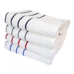 <4枚セット>フェイスタオル デイリーボーダー 泉州タオル 日本製 タオル(4色セット)