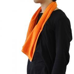 今治産 マフラータオル グッドタオル シャーリング カラー16色 210匁 (オレンジ)