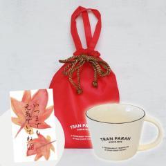 (敬老の日ギフト/敬老の日カード付)マグカップ 大きめ 北欧 カラー 9色 カフェ風 TRANPARAN (ホワイト)