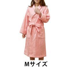 バスローブ 今治 ストライプ Mサイズ (ピンク)