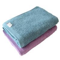 <2枚セット>今治タオル バスタオル まとめ買い サンホーキン綿 Luxe(グリーン×パープル)