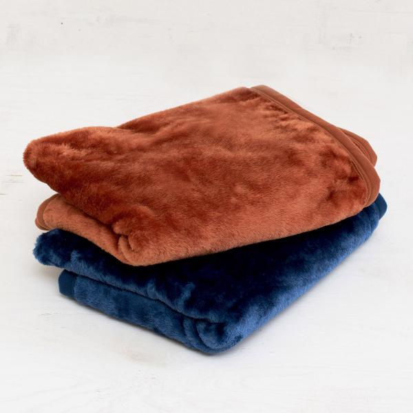(ロット販売・50枚セット)ブランケット ひざ掛け ルミエール アウトレット ふわふわ ベビー 毛布(インディゴブルー)
