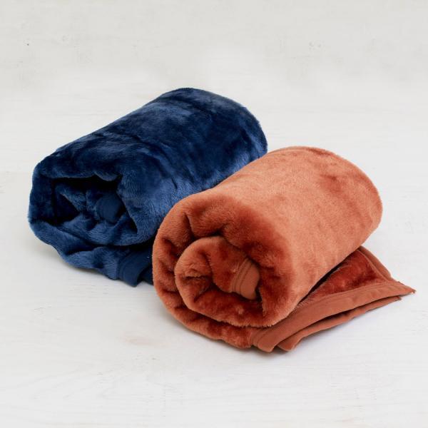 (ロット販売・30枚~49枚)ブランケット ひざ掛け ルミエール アウトレット ふわふわ ベビー 毛布(インディゴブルー)
