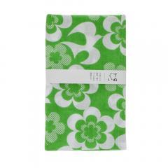 日本製てぬぐい トランパラン手ぬぐい 綿100%(フラワー緑)