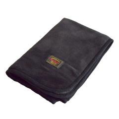 マイヤーブランケット ひざ掛け スナップボタン付き 着る毛布 にもOK(ブラック)