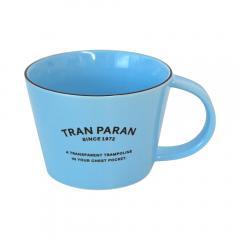 マグカップ 大きめ 北欧 カラー 9色 カフェ風 TRANPARAN シンプル 瀬戸焼(ライトブルー)