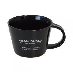 マグカップ 大きめ 北欧 カラー 12色 カフェ風 TRANPARAN シンプル 瀬戸焼(ブラック)