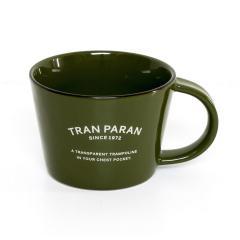 マグカップ 大きめ 北欧 カラー 12色 カフェ風 TRANPARAN シンプル 瀬戸焼(カーキ)