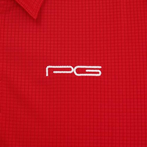PG 【多少の傷、汚れにつき処分価格で大奉仕、売り切れご容赦!】 ポロシャツ PGMZSS15-1 RED(Men's)