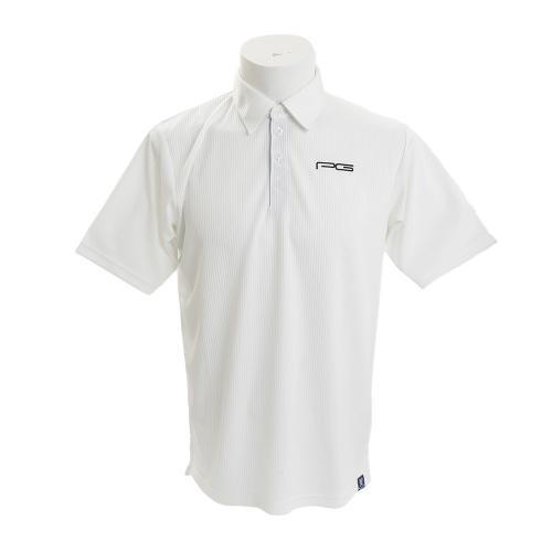 PG 【多少の傷、汚れにつき処分価格で大奉仕、売り切れご容赦!】 ポロシャツ PGMZSS15-1 WHT(Men's)