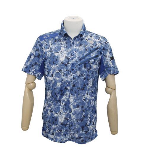 オークリー(OAKLEY) Skull Spray Geo Shirt (メンズ半袖ポロシャツ) 433622JP 62K 【16春夏】(Men's)