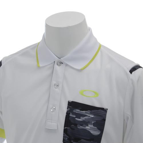 Lined Camo Polo (メンズ半袖ポロシャツ) 433739JP 100 White 【16春夏】
