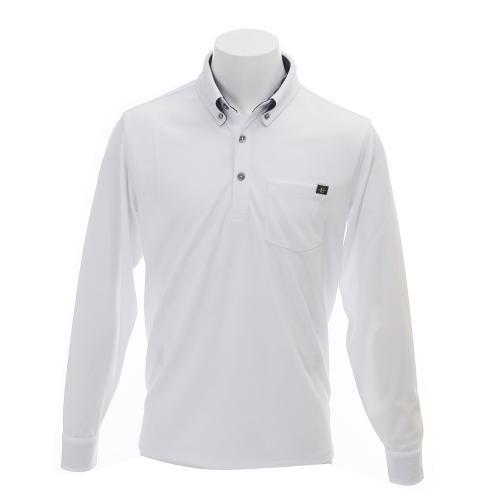 エピキュール(epicure) EPMLS無地BDシャツ (メンズ長袖ポロシャツ) EPHD6S4336 WHT【16春夏】(Men's)