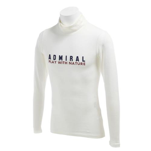 アドミラル(Admiral) ロゴ タートルネックシャツ (メンズネックシャツ) ADMA6T6-WHT 【16秋冬】(Men's)