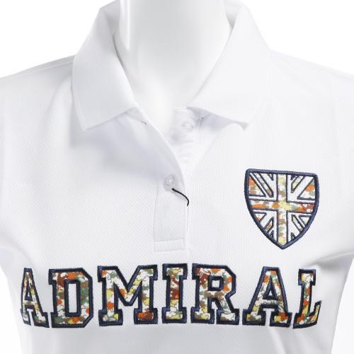 アドミラル(Admiral) コバナアップリケ ポロシャツ (レディース半袖ポロシャツ) ADLA653-WHT(Lady's)