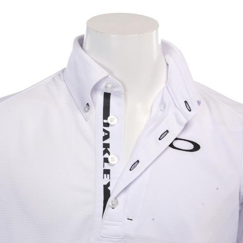 Bark Lined Logo Shirts (メンズ半袖シャツ) 433956JP-100  White 【17春夏】