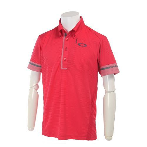 Bark Lined Logo Shirts (メンズ半袖シャツ) 433956JP-41A Hibiscus 【17春夏】