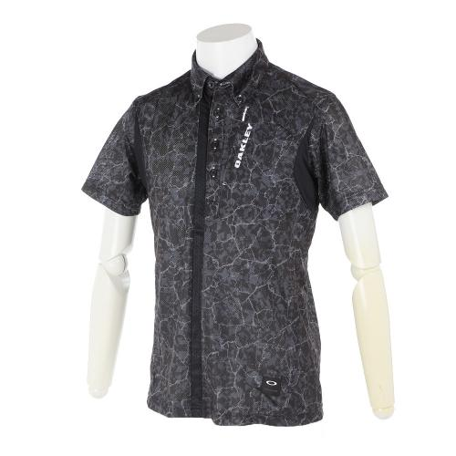 オークリー(OAKLEY) Bark Geological Shirts 433958JP-00G BLK【17春夏】(Men's)