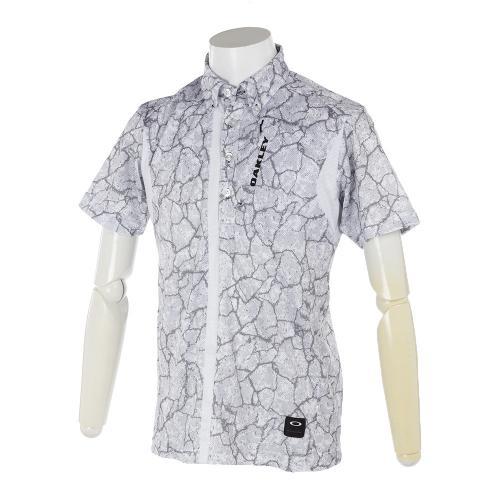 オークリー(OAKLEY) Bark Geological Shirts 433958JP-186 WH×BK【17春夏】(Men's)
