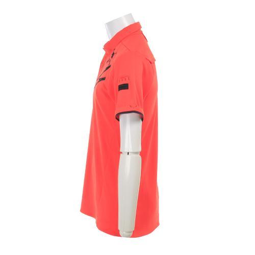 Skull Claw Zip Shirt (メンズ半袖シャツ) 433966JP-823 Coral grow【17春夏】