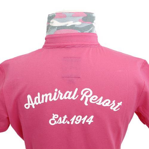アドミラル(Admiral) パーツカモフラージュ 共衿ポロ ADLA744-PNK (Lady's)