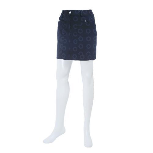 キャロウェイ(CALLAWAY) 17Lフラワープリントストレッチヘリンボーンスカート 241-7125815-120-NVY【17春夏】(Lady's)
