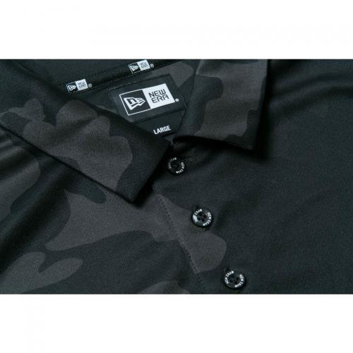 ニューエラ(NEW ERA) Polo Shirts ポロシャツ ウッドランドカモブラック リフレクターロゴ 11474169(Men's)