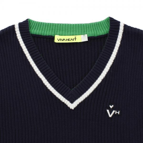 ビバハート(VIVA HEART) Vネックニットベスト 012-46971-98(Lady's)