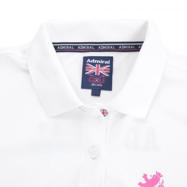 アドミラル(Admiral) テーマロゴ ポロシャツ ADLA761-WHT(Lady's)