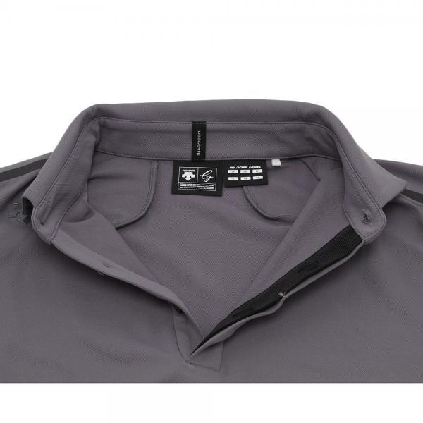 デサントゴルフ(DESCENTEGOLF) タクテル鹿の子 ロングスリーブシャツ DGM1037F-CRG(Men's)