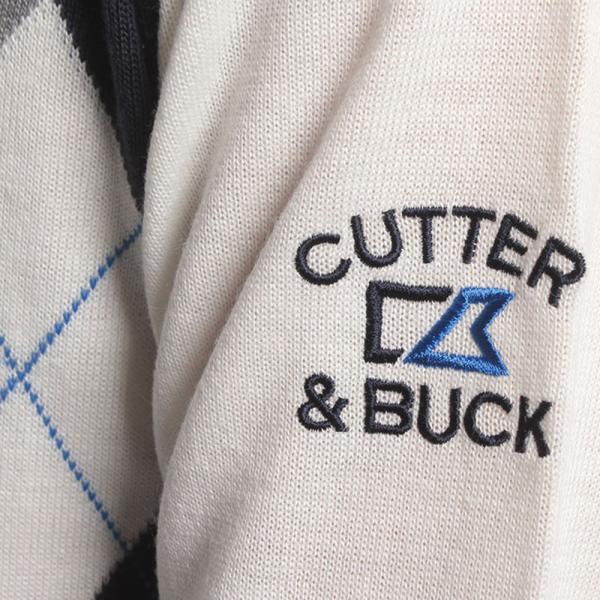カッターアンドバック(CUTTER&BUCK) ジップアーガイルセーター CBM4171-N933(Men's)