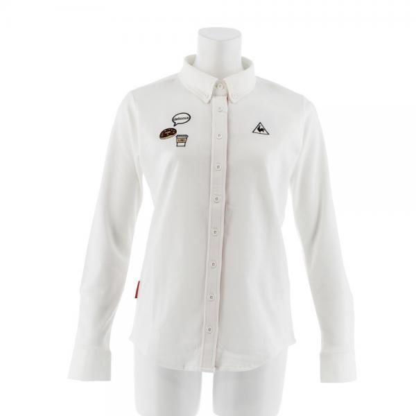 ルコック スポルティフ(Lecoq Sportif) 前開き長袖ニットシャツ QGL1016-N942(Lady's)