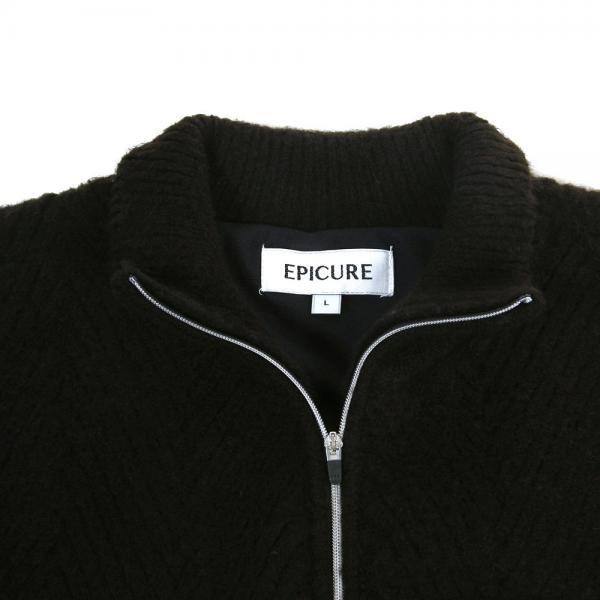 エピキュール(epicure) ケーブルローゲージニット EPTT7F1018 BLK(Men's)