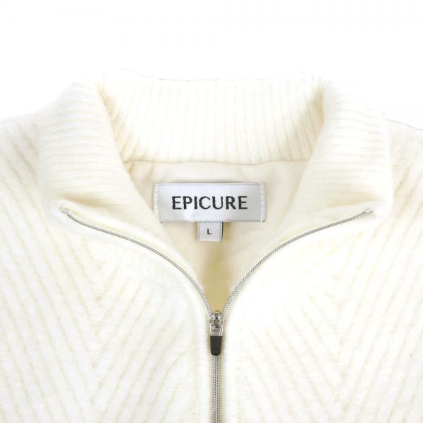 エピキュール(epicure) ケーブルローゲージニット EPTT7F1018 WHT(Men's)