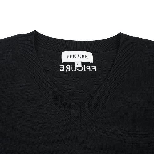 エピキュール(epicure) Vネックニット EPTT7F3011 BLK(Men's)