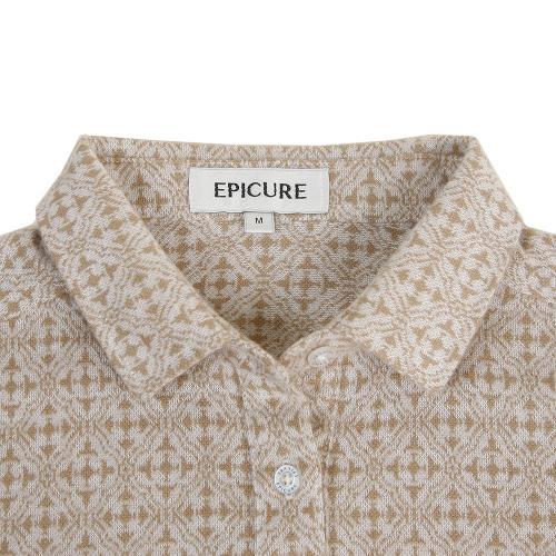 エピキュール(epicure) ウールコンジャガードシャツ EPTT7F7123 WHT(Lady's)