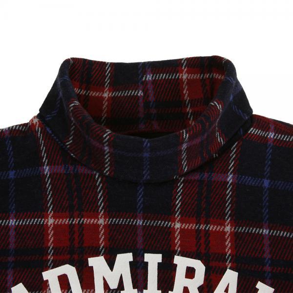 アドミラル(Admiral) チェック タートルネックシャツ ADMA7P8-RED(Men's)