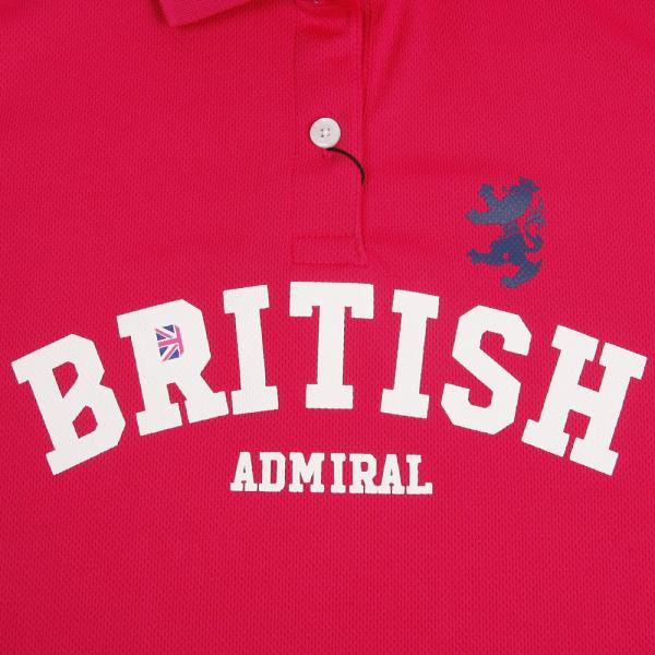 アドミラル(Admiral) テーマロゴ ポロシャツ ADLA761-PNK(Lady's)