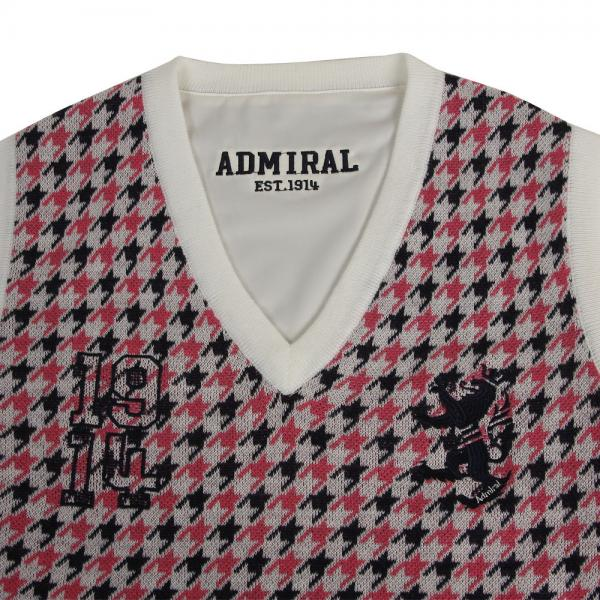 アドミラル(Admiral) 千鳥リバーシブルベスト ADLA769-WHT(Lady's)