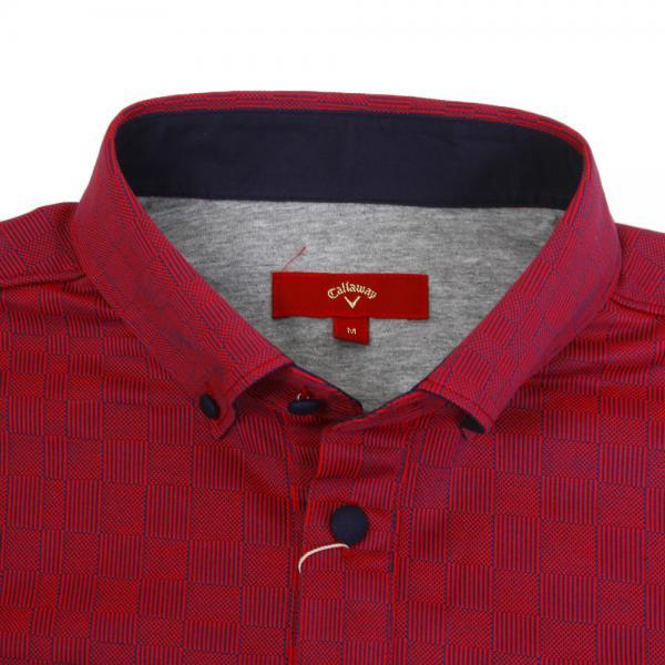 キャロウェイ(CALLAWAY) 17M7REDカノコピケチェックB.Dシャツ 241-7257003-100(Men's)