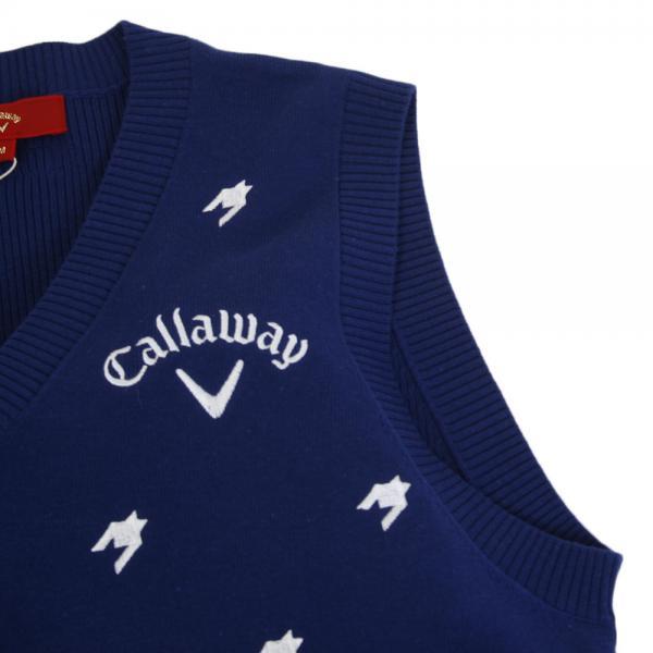 キャロウェイ(CALLAWAY) 17M7RED千鳥刺繍ニットベスト 241-7261001-120(Men's)