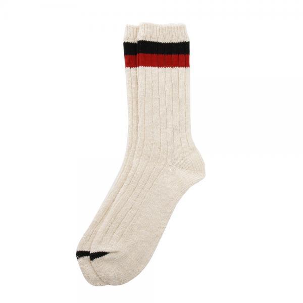ラフ&スウェル(rough&swell) College Socks RSA-17209BKRD(Men's)