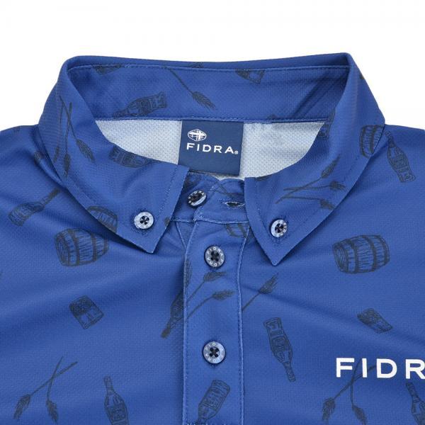 フィドラ(FIDRA) ボタンダウン 長袖ポロシャツ FB110111BLU(Men's)